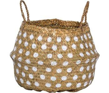 Seagrass Basket W/ White Dots