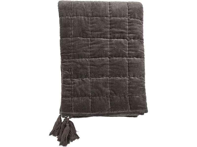 Bloomingville Grey Quilted Cotton Throw