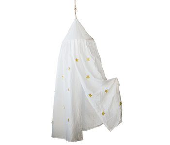 Bed Canopy with Appliqued Stars
