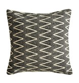 Creative Co-OP Square Chevron Cotton Pillow