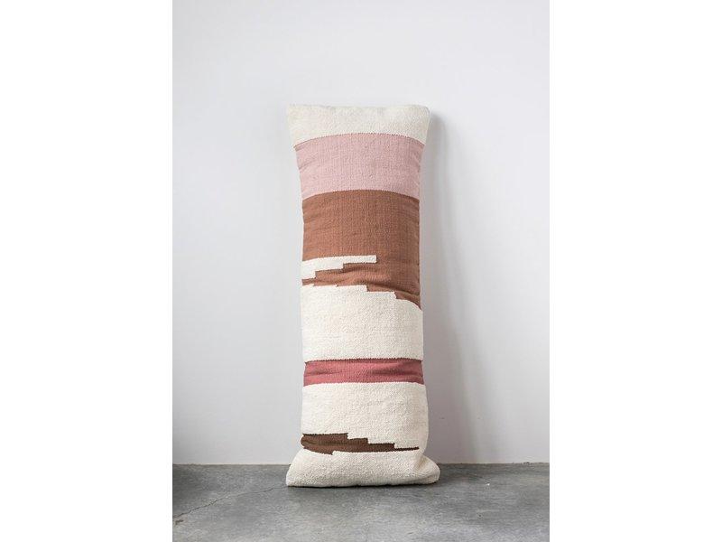 Creative Co-OP Kilim Lumbar Pillow Hand-Woven Cotton