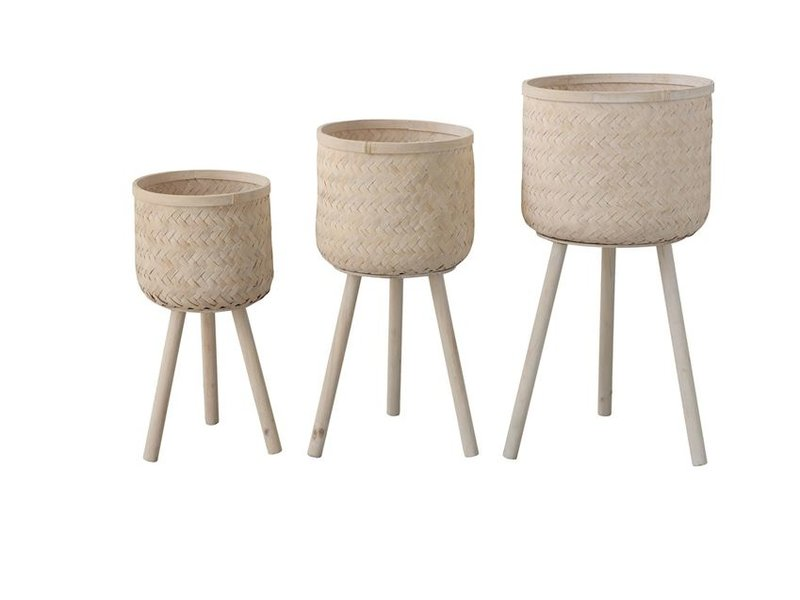 Bloomingville Bamboo Planter Basket