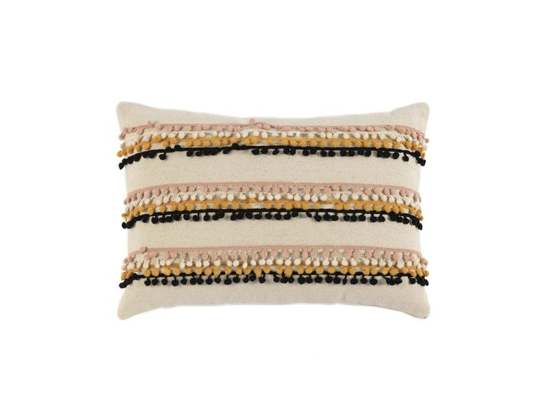 Shiraleah Kuzco Pompom Pillow Ivory