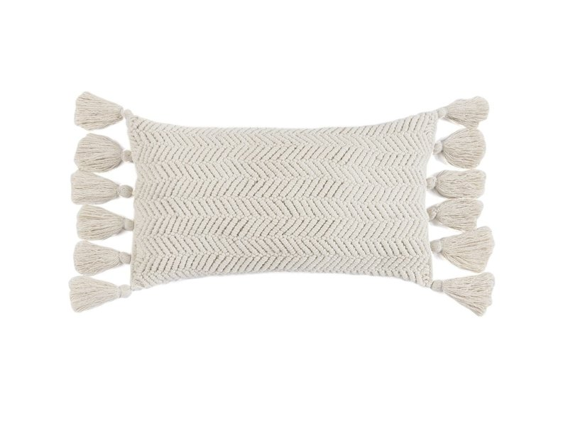 Shiraleah Samara Pillow Ivory