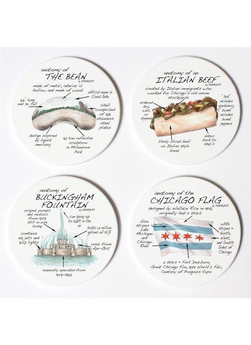Chicago Ceramic Coaster