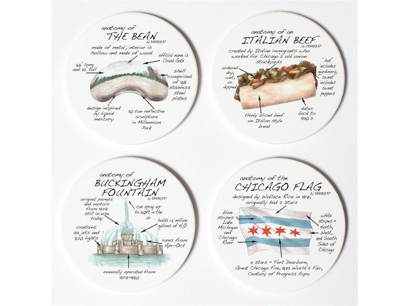 Dishique Chicago Ceramic Coaster