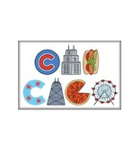 The Found Chicago Icons Magnet