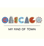The Found Chicago Icons Lettering Postcard