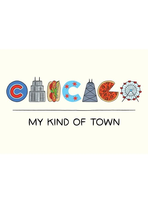 Chicago Icons Lettering Postcard