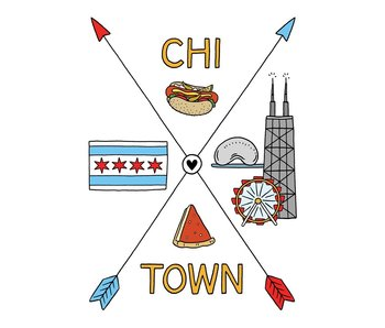 Chi-Town Arrows Postcard