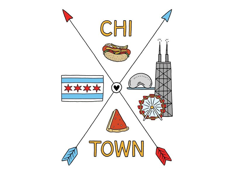 The Found Chi-Town Arrows Postcard