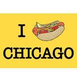 The Found I Hotdog Chicago Postcard