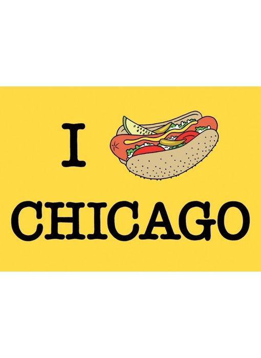 I Hotdog Chicago Postcard