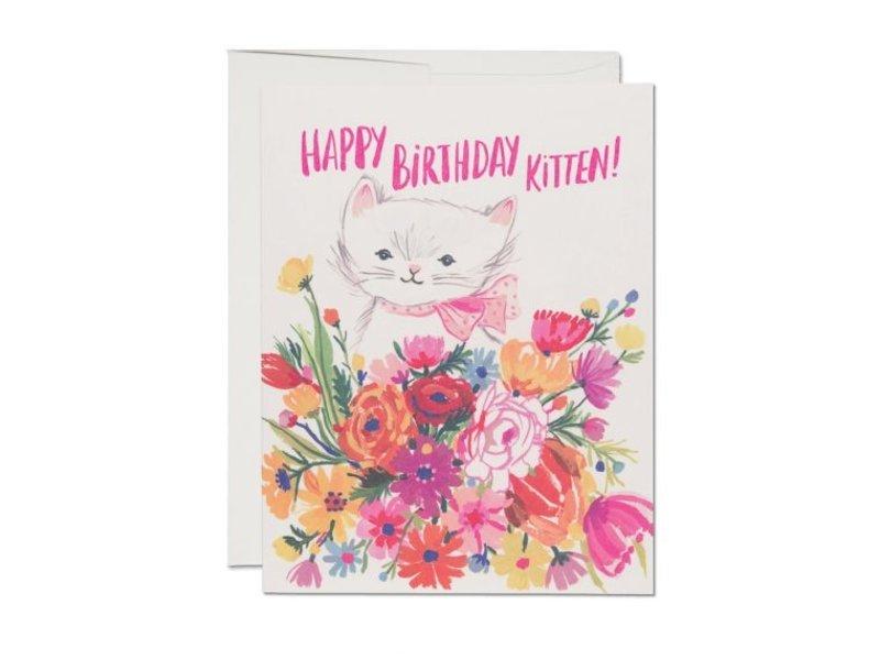 Red Cap Cards Happy Birthday Kitten