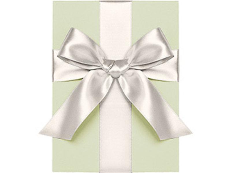 "Waste Not Paper Soft White Satin Ribbon 1/4"" Thick"