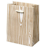 Waste Not Paper Woodgrain Small Gift Bag