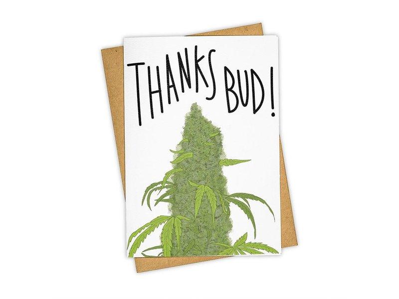 Tay Ham Thanks Bud Greeting Card