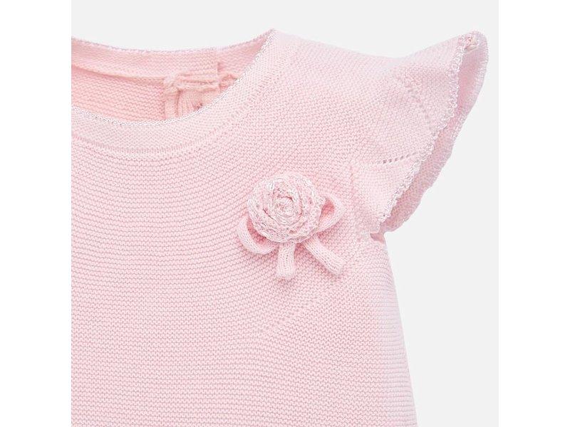 Mayoral Baby Rose Tricot Short Set