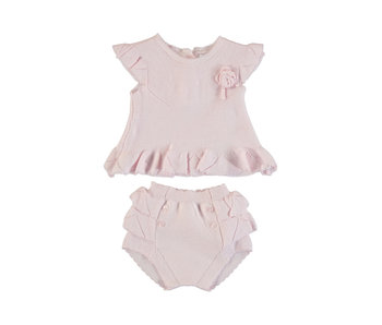 Baby Rose Tricot Short Set