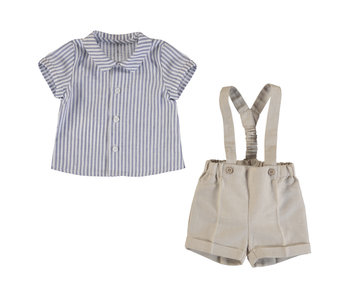 Suspender Shorts and Shirt Set