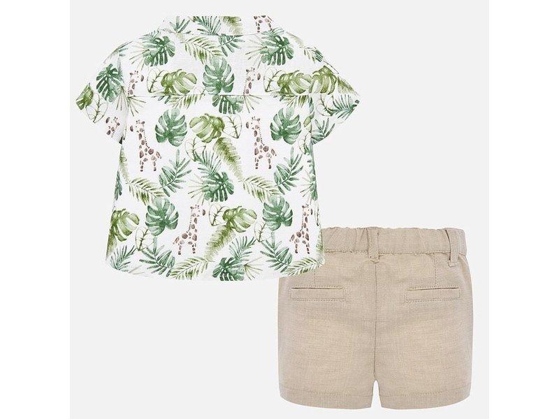 Mayoral Sand Shorts and shirt set