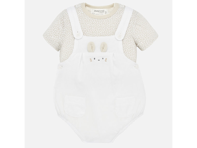Mayoral Stone Shirt and Diaper Cover Set