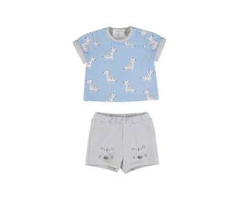 Short Set Blue Zebra