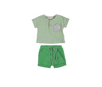 Kiwi Stripes Short Set