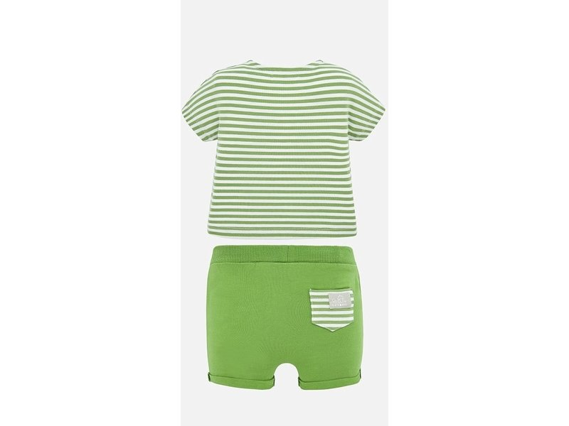 Mayoral Kiwi Stripes Short Set