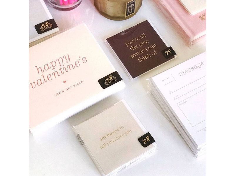 Smitten on Paper Excuses Love Gift Enclosures