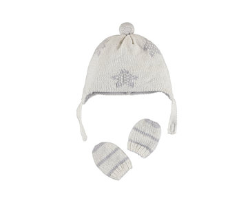 Grey Star & Stripes Hat and Gloves Set