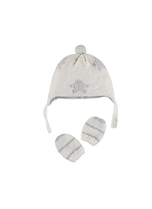 Grey Star & Stripes Hat and Gloves Set