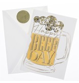 Graphique De France Happy Beer Day Greeting Card