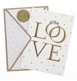 Graphique De France Love Rings Handmade Card