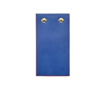 Blue Leather Flip Pad