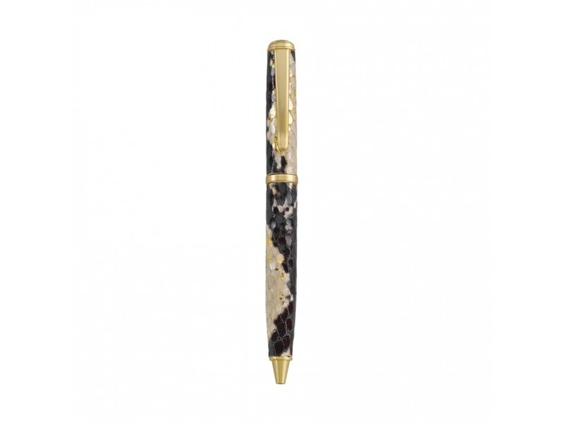 Graphic Image Inc. Python Gold Leather Ballpoint Pen