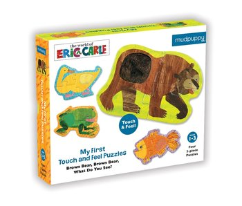 Eric Carle Brown Bear Touch & Feel Puzzle