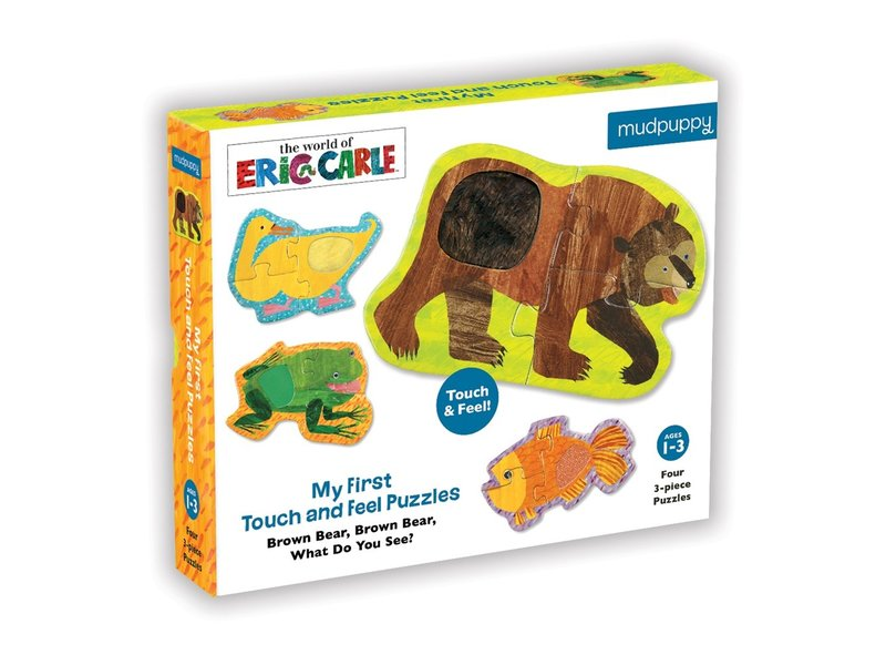 Chronicle Books Eric Carle Brown Bear Touch & Feel Puzzle