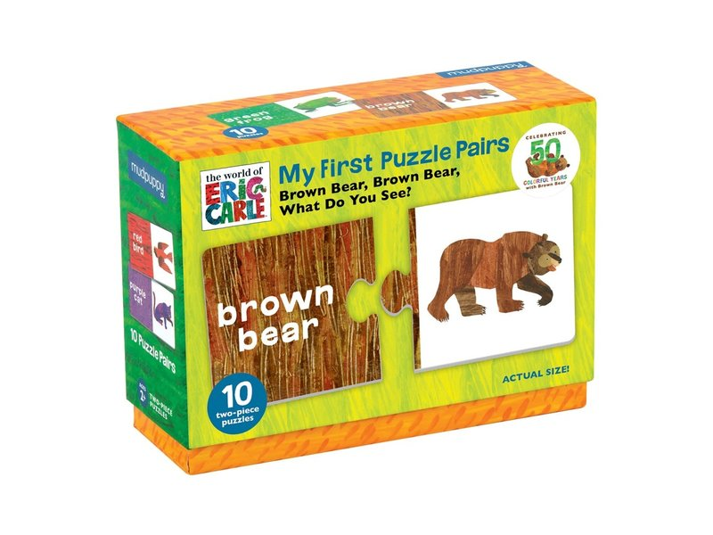 Chronicle Books Eric Carle Brown Bear Matching Puzzle
