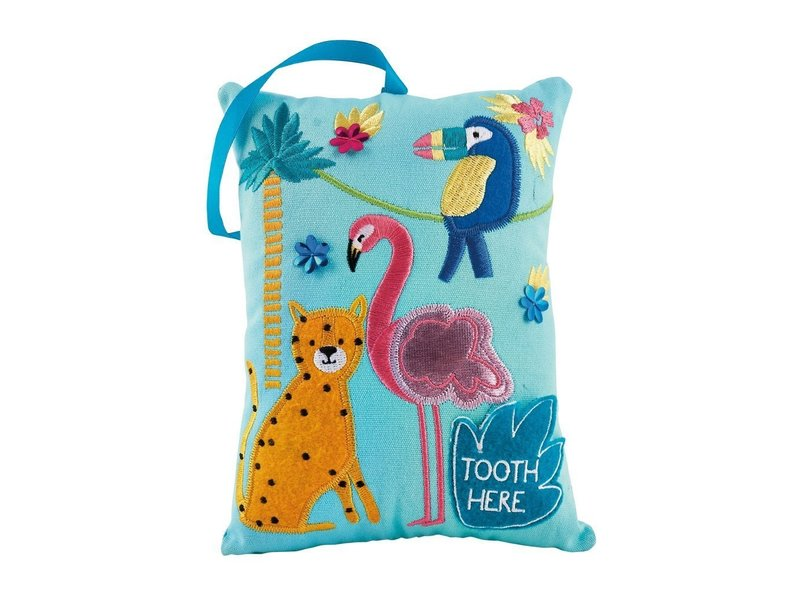 Floss and Rock Jungle Toothfairy Cushion