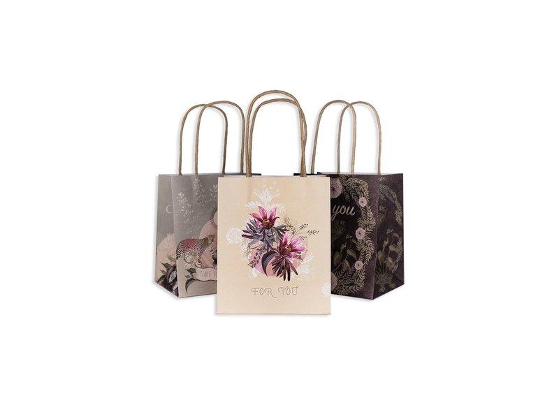 Papaya Blossoms Mini Gift Bag