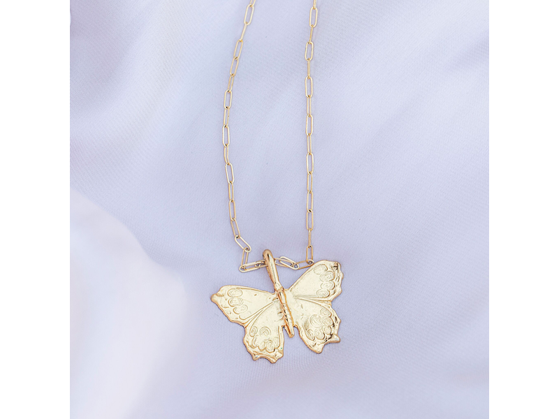 Girls Crew Butterfly Necklace