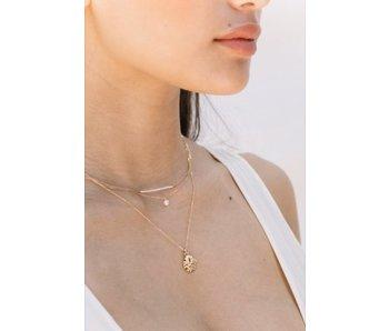 Goddess Pearl Bar Necklace