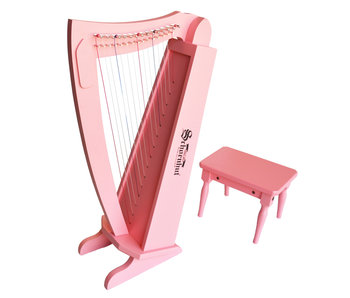 Pink Harp with Bench