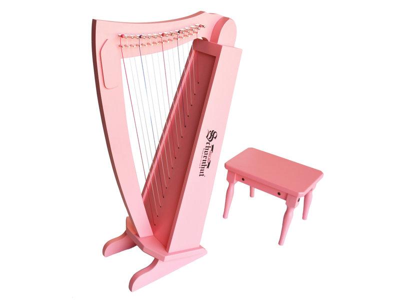 Schoenhut Pian Comany Pink Harp with Bench