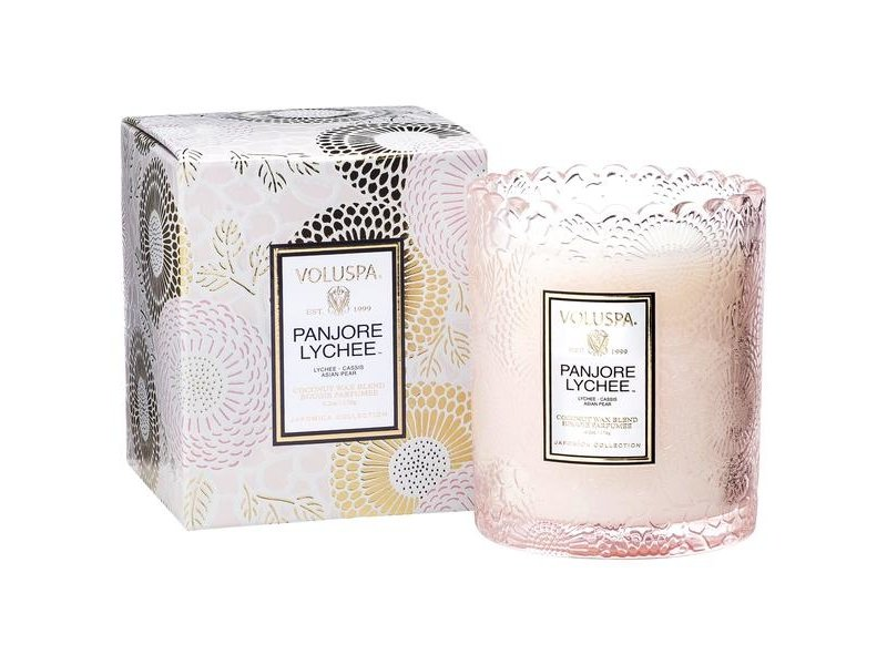 Voluspa Panjore Lychee Scalloped Edge Candle