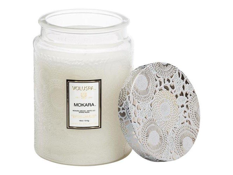 Voluspa Mokara Glass Jar Candle