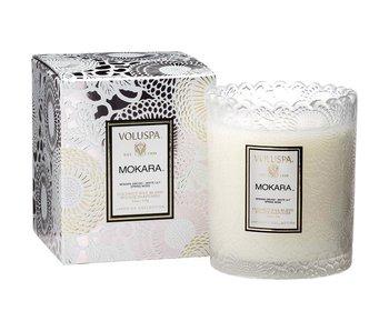 Mokara Scalloped Edge Candle