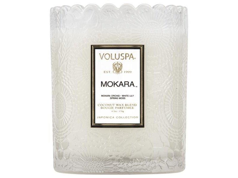 Voluspa Mokara Scalloped Edge Candle