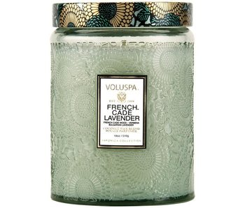 French Cade Lavender Glass Candle